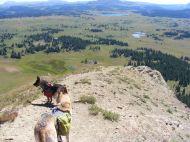 Draco and Leah descending Big Marvine Peak