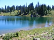 One of many small lakes on The Flat Tops, this near East Marvine Creek