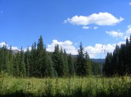 The view from camp, East Marvine Creek drainage