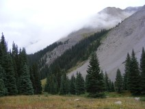 Clouds rolling over the Northern San Juan Mountains, above the East Fork Cimarron River