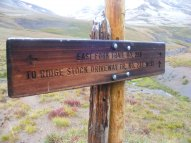 Sign in the alpine