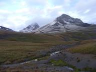 Wetterhorn Peak to the left, Matterhorn Peak to the right