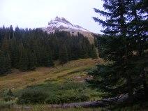 At camp, my view of Uncompahgre Peak
