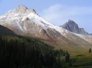 On left, Matterhorn Peak, and on the right Wetterhorn Peak
