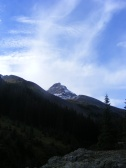 Uncompahgre Peak under a clearing sky