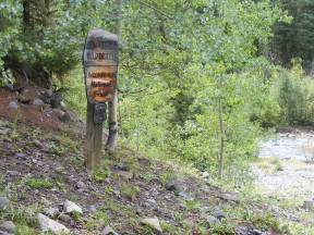 The Uncompahgre Wilderness sign on East Fork Trail No. 228