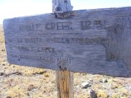 Sign at the junction of Whale Creek Trail No. 780 and La Garita Stock Driveway Trail No. 787