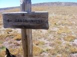 Sign on Palmer Mesa pointing to Canon Nieve, although I believe no trail exists there