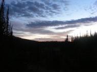 Dawn's early light in La Garita Mountains