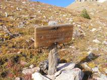 At the junction between The Halfmoon Pass No. 912 and Machin Lake No. 784 Trails