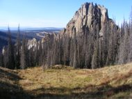 The tower of rock on the topside of Wheeler Geologic Area