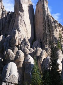 """Close up view of the """"beehive"""" formations and fins above, at Wheeler Geologic Area in the Rio Grande National Forest"""