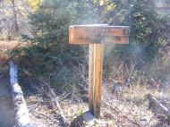 The western trail junction at Wheeler Geologic Area