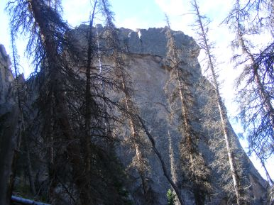 Casement of rock at Wheeler Geologic Area