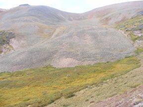 Rock glacier in Twin Peaks Creek basin