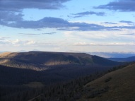 Looking north from my evening perch, Elk Mountain on distant horizon