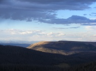 Looking northwest from my evening perch near Halfmoon Pass