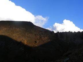 Evening light above La Garita Mountains, near Halfmoon Pass