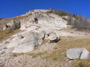 Relatively soft volcanic ash forms hoodoos more readily than most rock, in La Garita Wilderness