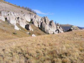 Hoodoos on the divide between South Saguache and Twin Peaks Creek