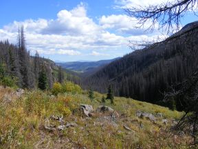 Classic view of South Saguache Creek and beyond