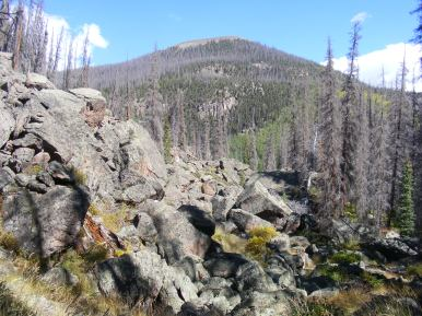 A mesa above Twin Peaks Creek, entering South Saguache Creek from the left
