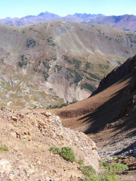 Above the Augusta Mine, looking down into Poverty Gulch