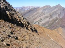 Looking north from the saddle between Mineral Point and Augusta Mountain