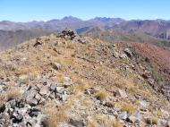 Looking over Augusta Mountain to Castle Peak and The Elk Mountains