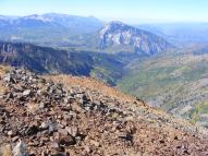 From Augusta Mountain, looking west to Marcellina Mountain, and down into Middle Anthracite Creek