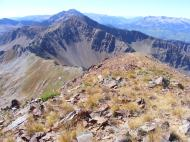 Looking south along the Ruby Range from Augusta Mountain