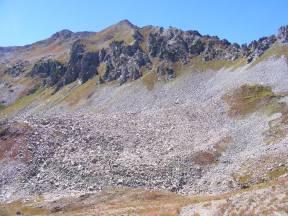 Rocky ridge above Baxter Basin