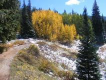 The old railroad grade, now Gunnison National Forest Road 730.1B