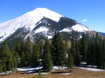 Whetstone mountain and its new snow