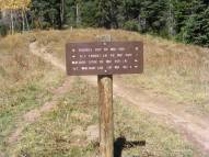 At the junction of Double Top Trial No. 405 and Walrod Spur Trail No. 405.2A