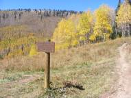 Trail junction in Walrod Gulch, on a fine Autumn day