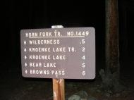 At the North Cottonwood Trailhead