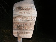 Sign for the Collegiate Peaks Wilderness