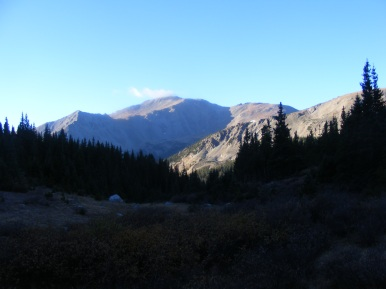 Looking south from Horn Fork Basin at Mount Yale