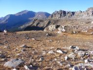 Horn Fork Basin, Sawatch Range; Continental Divide to the right, Mount Yale to the south