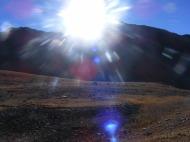 Blazing Sun behind Mount Columbia