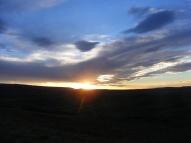 Sun almost set in Moffat County