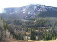 A view of Battle Lake in the Medicine Bow National Forest