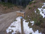 The Continental Divide Trail No. 412 south of Wyoming 70