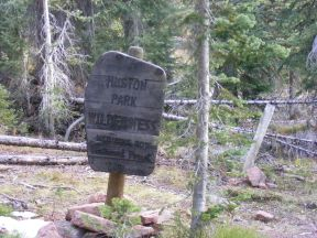 Huston Park Wilderness on the northern entrance along the Continental Trail No. 412 in Medicine Bow National Forest