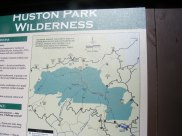 Interpretive signage for the Huston Park Wilderness
