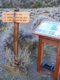Trail Lake Trailhead signage