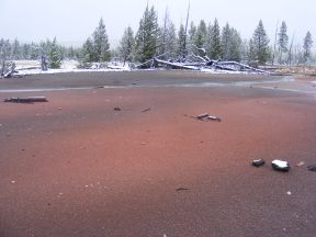 One of the colorful geothermal displays at Artist's Paintpots in Yellowstone National Park