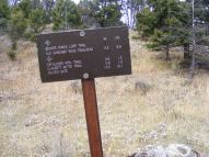 Junction of the Sepulcher Mountain and Beaver Pond Trails in Yellowstone National Park