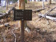 Junction of the Claggett Butte and Sepulcher Mountain Trails in Yellowstone National Park